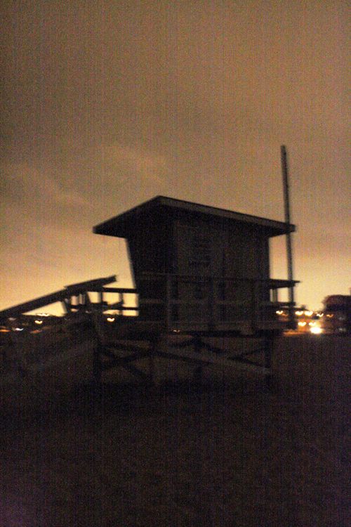 Lifeguard house silhouette