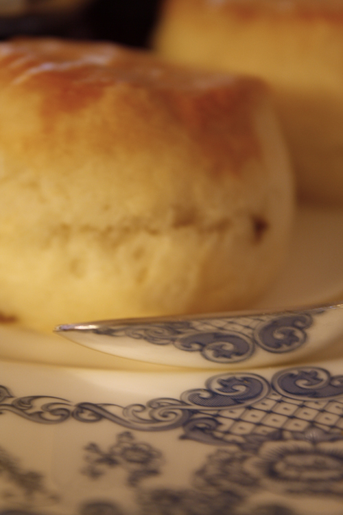 Scone and spoon
