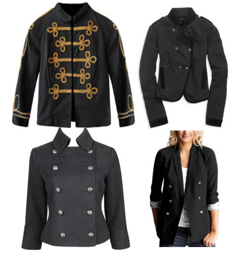 Fall Fashion Trend: Military and Band Jackets