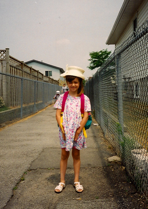 Another pure-nineties outfit. According to my mom I was wearing that hat as