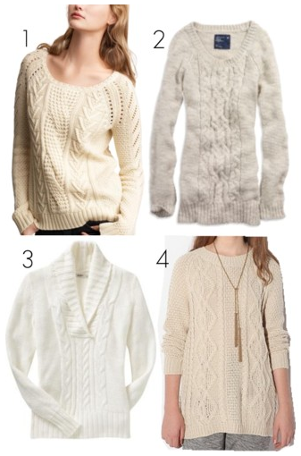 Cable-knit sweaters - Admiral Blog